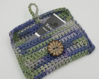 Crochet Bag, Business Card Holder, Credit Card Holder, Gift Card Holder, Gift Bag, Crochet Trinket Bag, Coin Purse, Jewelry Bag
