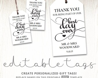 Editable gift tags gift tag template text editable polka for Goodie bag tag template