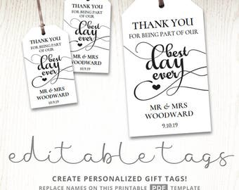 goodie bag tag template - editable gift tags gift tag template text editable polka