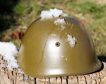 Military Helmet - Bulgarian Army Helmet - Vintage Steel Helmet - Post World War II Helmet - Cold War Helmet - Fathers Day Gift