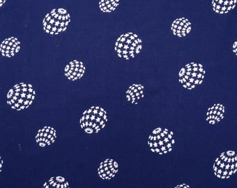 "Decorative Fabric, Star Print, Navy Blue Fabric, Sewing Accessories, Rayon Fabric, 43"" Inch Apparel Fabric By The Yard ZBR283A"