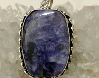 Charoite Pendant Necklace