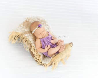 Baby Girl Newborn Bodysuit, backless bodysuit, baby girl, Mint overall, Lavender, Soft Yellow, Newborn Props, PHOTO PROP, Code: Mara-01