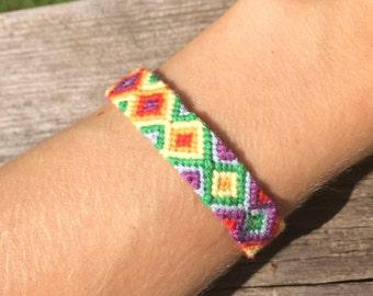 Rainbow Diamond Friendship Bracelet
