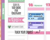 Munchkins - Etsy Order Tracker Planner Stickers (M29)