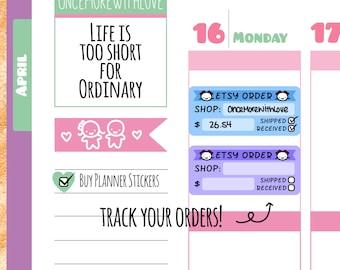 Munchkins - Etsy Order Tracker Planner Stickers (M29)
