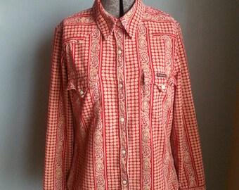 vintage paisley floral corduroy cotton shirt
