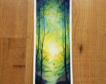 Radiant forest - Original painting