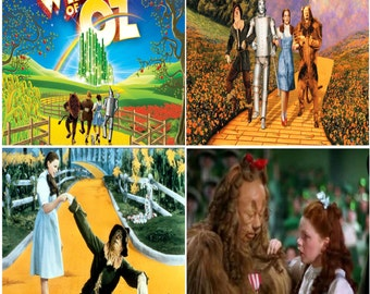 Wizard of Oz Ceramic Tile Drink Coasters / Set of 4 / Wizard of Oz Drink Coaster Set