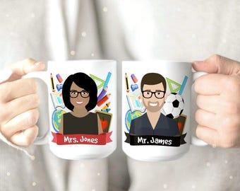 Custom Teacher Mug - Unique Teacher Mug - Personalized Teacher Coffee Mugs - Gift for Male Teacher - Gift for Female Teacher -  Teacher Gift