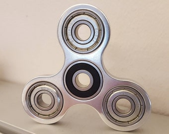 The Original Tri-beam Fidget Spinner in Polished Aluminum