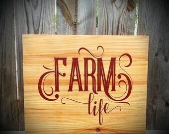Farmhouse Decor - Farm Life - Farm Life Sign - Farm Decor - Farm - Farmhouse Sign - Farmhouse - Farmer's - Gift For Farmer - Farmer Life
