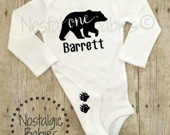 One Birthday Outfit, One Birthday Bear, One Birthday, First Birthday outfit Personalized shirt, Birthday Shirt,One Piece Outfit,1st Birthday