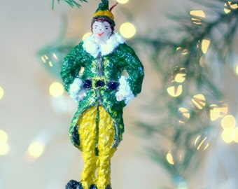 Buddy the Elf Ornament, Christmas Tree Ornament, hostess gift, house warming gift, a gift for children