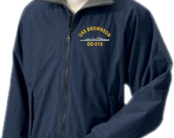 USS BROWNSON DD-518  Embroidered Jacket   New