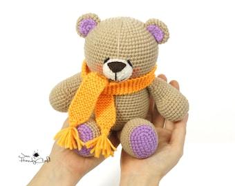Stuffed teddy bear Baby shower gift Plush bear lover gift Girlfriend gift Birthday gift for girl Nursery decor Soft bear toy Stuffed animals