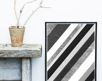 Geometric Scandinavian Art, Monochrome Art Print, Modern Art Print, Giclee print, Wall Art, Geometric Poster, Wall Decor, Home Decor