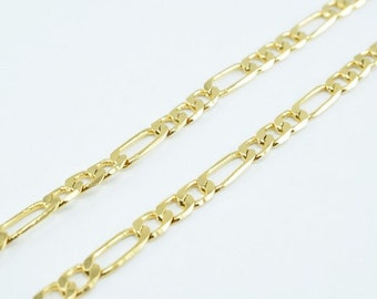 New Gold Filled Chain 18K Size 3.9x0.5mm for Jewelry Making GFC59 Sold by Foot