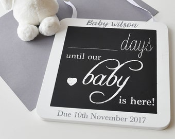 Baby Countdown Plaque |  Baby Countdown Blocks | Pregnancy Gift | Baby Shower Gift | Baby Countdown Sign | Baby Gift | Days until Baby Sign