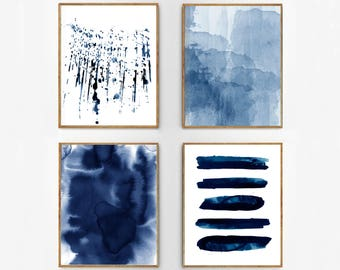 Blue wall art etsy for Minimal art vzla