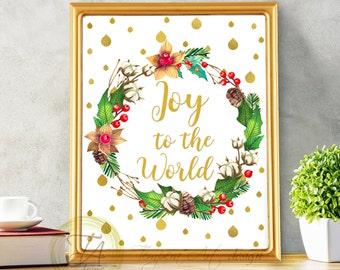 Joy print Christmas quote decor Christmas wreaths Christmas quote Joy printable Christmas quote decor Merry Christmas printable Joy sign Joy