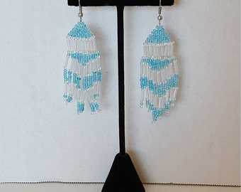 Native American Earrings, Native Bead Earrings, Native American, Dangle Earrings, Seed Bead Earrings, Fringe Earrings, Inexpensive Gift