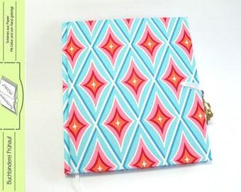 Diary with lock retro diamond motif