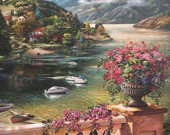 Lake Country/ Wall Decoration/ Fine Art Print/ Boats And Water