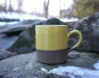 Yellow CHOCOLATE Elemental Mug ~ Handmade in Studio ~ Ready to ship !!!