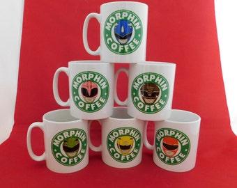 Power Rangers Starbucks Inspired Coffee Mug 10oz - choose your favourite colour ranger original tv series