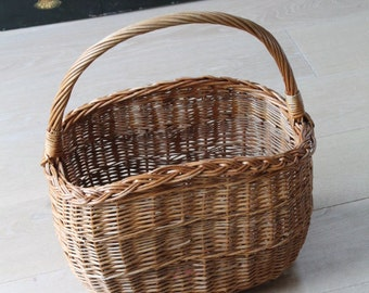 Vintage Basket/Reed Basket/Wicker Basket/Shopping Basket(Ref1956K)
