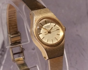 Seiko Gold Plated Ladies Vintage Watch. Wife Watch. Watch for Mom. Seiko Vintage Watch. Gold Vintage Women's Watch. Gold Women's Watch. Gift