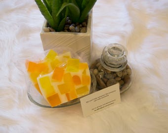 Joy  - Orange and Yellow Handcrafted Glycerin Soap
