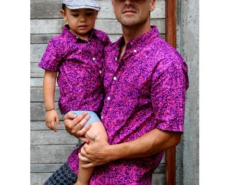 Father and son matching shirts,Dad son Outfit,father and son shirts,dad son matching shirts,button shirt,matching t-shirts,Fathers day gift