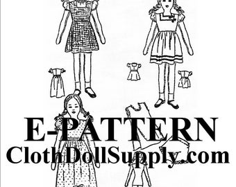 E-Pattern – Rag Doll with Outfits Sewing Pattern #EP 850