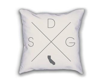San Diego Home Pillow - California Pillow, California Home Decor, San Diego Home Decor, California Home Pillow, California Throw Pillow