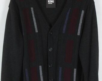 Vintage Cardigan, Vintage Knitwear, 80s, 90s, grey, oversized