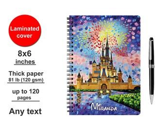 Spiral Notebook Disney Autograph book Writing journal Personalized Scrapbook signature travelers traveler's Kids Girls Diary for boys girls