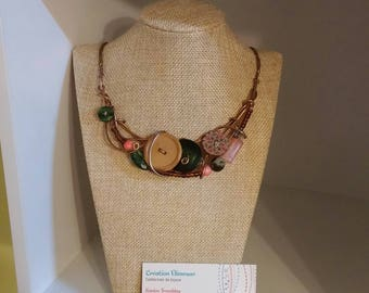 Coral forest necklace