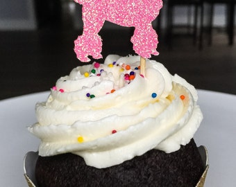 Poodle Cupcake Toppers • Poodle Birthday Party • Paris Birthday Decor • Baby Shower • First Birthday