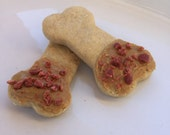 Bacon & Organic Peanut Butter Dipped Dog Biscuits