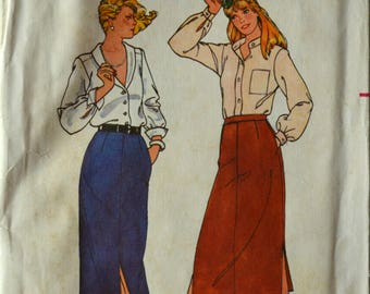 Uncut 1970s Butterick Vintage Sewing Pattern 6759, Size 14; Misses' Skirt