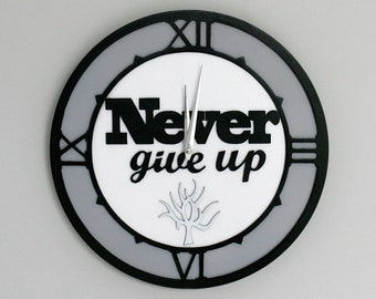 """Wall Clock - 'Never Give Up' (12"""")"""