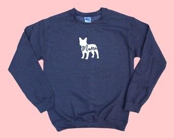 "French Bulldog ""MAMA"", Crewneck Sweatshirt"