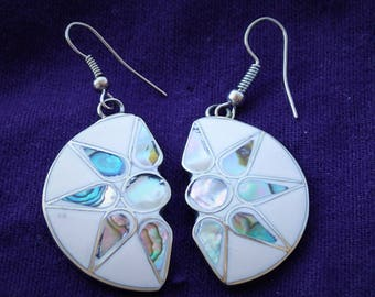 Abalone Dangling Sun Earrings