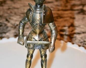 Brass Knight Cigarette Lighter//Cool Tobacciana//Figural Lighter//Collectible//Vintage Lighter