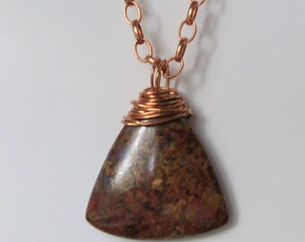 Pietersite with Beads and Copper Chain and Wire