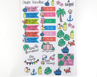 Cruise Planner Stickers   Cruise Vacation Planner Stickers