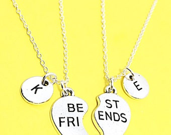 Gift Best Friend Necklaces 2 Friendship Jewelry Gifts Two BFF Set Of Two Friend Necklace Sister Gift Charm Necklace Jewelry Best Friend Gift