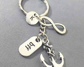 Best Friends, 6 bff keychains, bff monogram keychain, customized, personalized, keychain, 6 best friends, bff 6, best friends forever gift